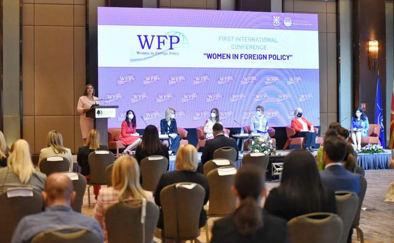 """Министерката Шахпаска на меѓународната конференција """"Жените во надворешната политика"""": Нашиот успех ќе биде целосен само ако охрабриме и мотивираме најмалку уште една жена да зачекори храбро во светот на мажите"""
