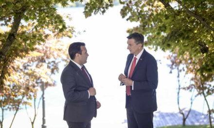 Заев оствари средба со словенечкиот претседател Пахор: Словенија и цела Европа поддржуваат почеток на преговорите за Северна Македонија