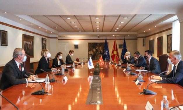 Премиерот Заев и генералната секретарка на ОБСЕ, Шмид: Претседавањето на Северна Македонија со ОБСЕ во 2023 е признание за политиките на соработка и дијалог