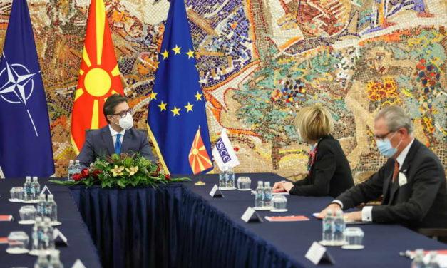 Средба на претседателот Пендаровски со генералната секретарка на ОБСЕ, Хелга Марија Шмид