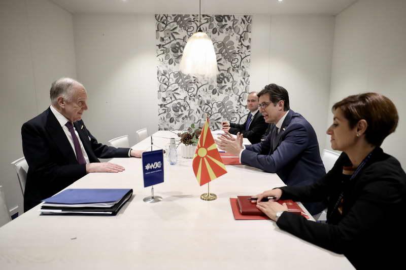 Средба на претседателот Пендаровски со Роналд Лаудер, претседател на Светскиот Еврејски Конгрес
