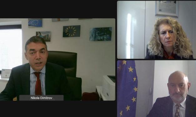 """Вицепремиерот Димитров ко-претседаваше со Заедничкиот мониторинг комитет со Европската Комисија:  """"Потребен ни е фокус и акција, досегашното искуство да го искористиме како катализатор за придвижување"""""""